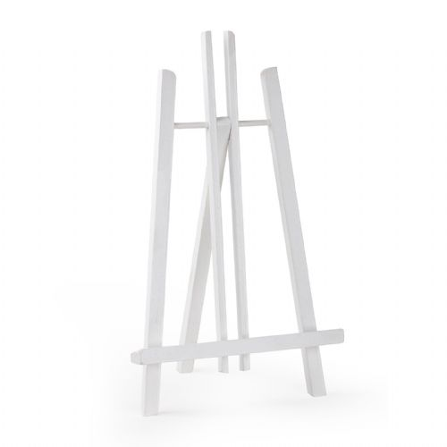 "White Colour Easel Kent 20"" - Beech Wood"
